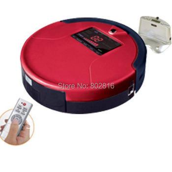 Free Shipping For Russian Buyer 2012 Brand New Li-ion Battery  3 In Multifunction Robot Room Cleaner With  Big LCD Screen