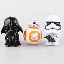 2016 Brand New Hot Star Wars BB-8 Droid Robot PVC Model Figures Toys Black Knight Darth Vader Stormtrooper DIY Toy