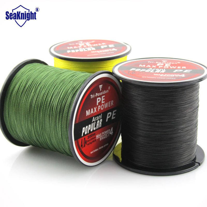 Seaknight triposeidon brand 300m 330yards multifilament pe for Bulk braided fishing line