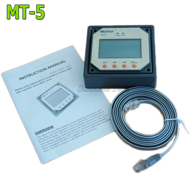 Remote Display Meter MT-5 For Tracer series MPPT solar charge controller,LCD display,RJ45 communication port