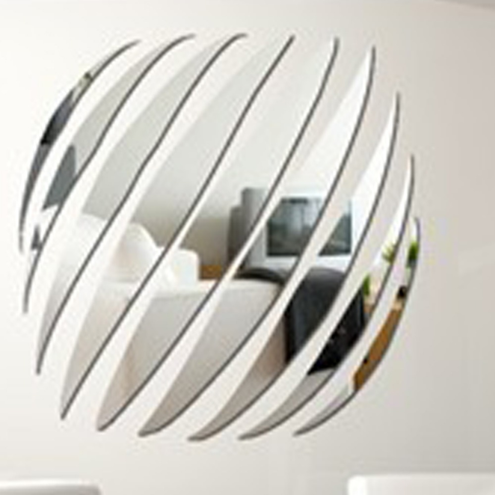 New Arrvial Large Decorative Wall Mirrors Home Decoration Decor Modern Design Mirror Stickers Free Shipping(China (Mainland))