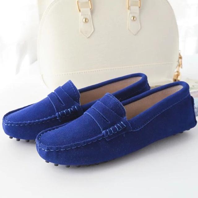 Новые женщины повседневная обувь весна лето натуральная кожа квартиры дышащий женщины ...