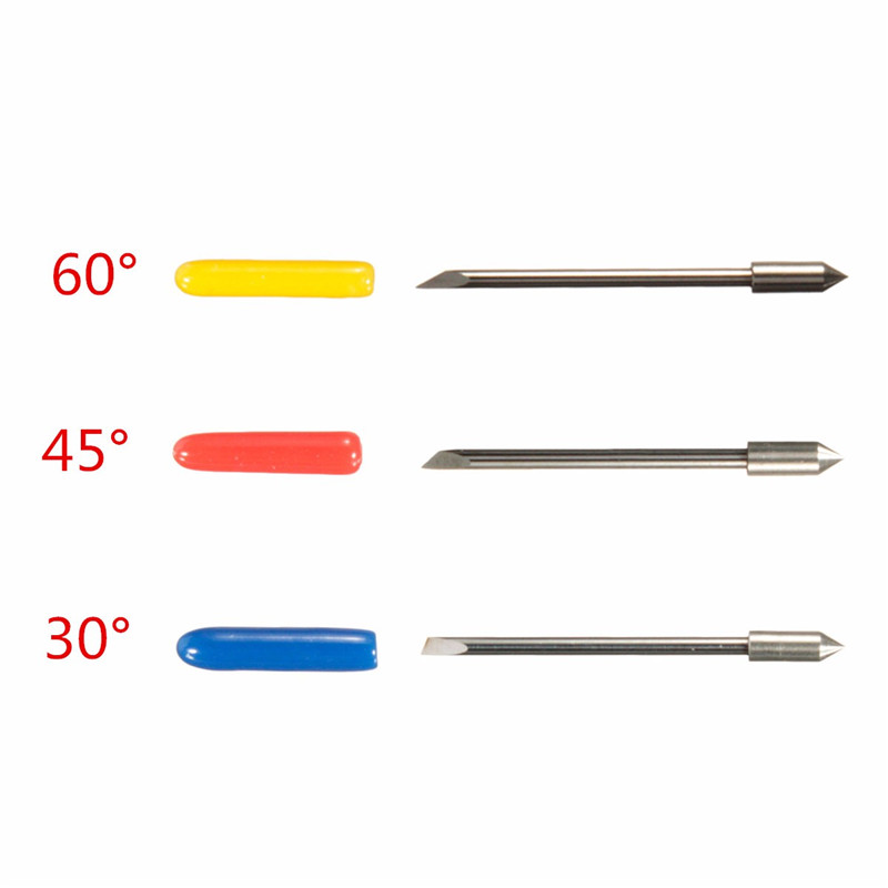 5Pcs/Set 1x30 Drgree +2x45 Degree +2x60 Degree Cutting Cutter Plotter Vinyl Knife Blade For Roland Graphtec Newest(China (Mainland))
