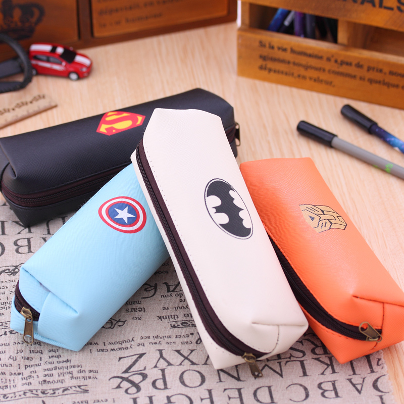 Superheroes cortical simple pencil cute male and female students to large capacity pencil case Free shipping<br><br>Aliexpress