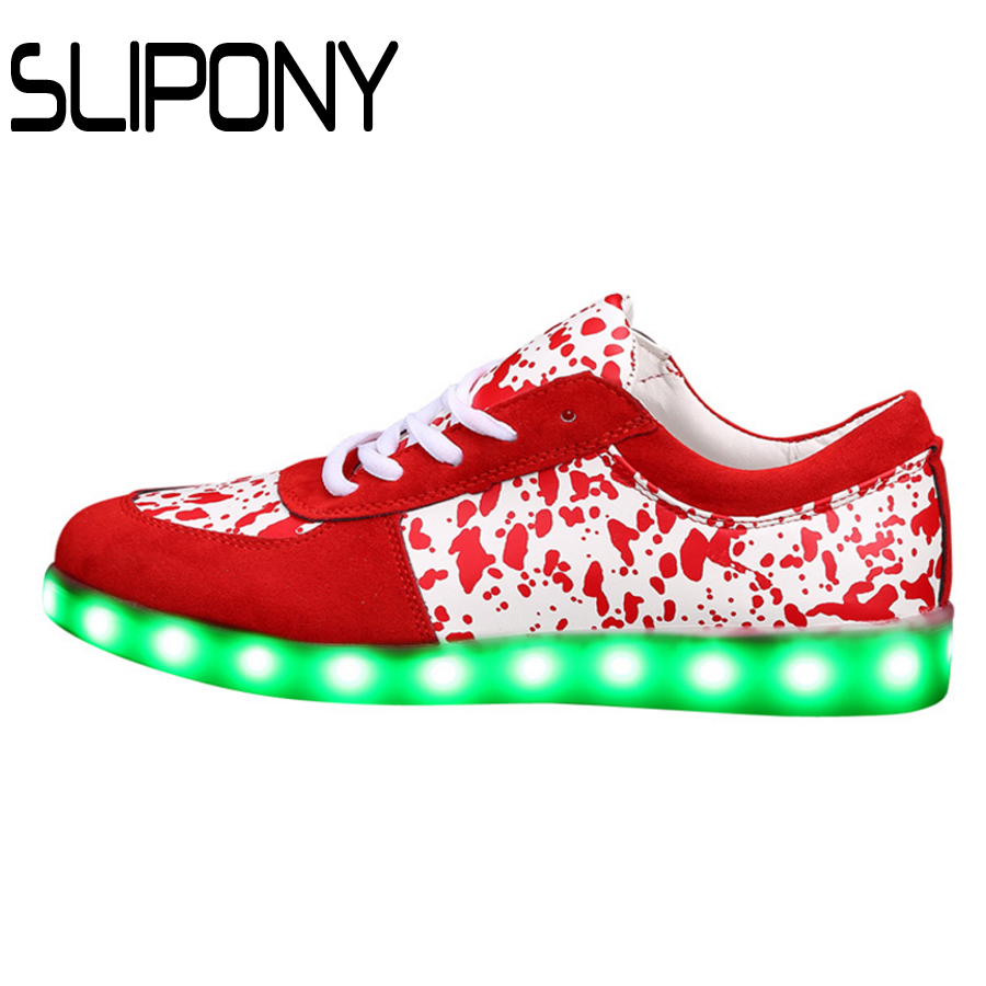 Led shoes for adults casual women casual shoes led luminous shoes men plus size light up women shoes zapatos mujer fast shipping(China (Mainland))