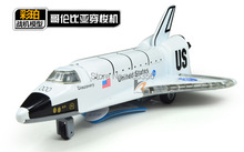 U.S. Discovery Space Shuttle alloy model with light and sound strongly pullback performance(China (Mainland))