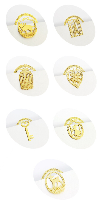7 style Creative Gold Bookmark Metal Bookmarks+card for books Marker Wedding Favors wedding gift(China (Mainland))