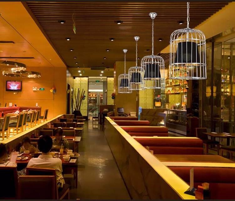 Купить Творческая Личность Железа Гальванических Птичья Клетка Люстра Nordic Ресторан Бар Промышленные Ретро Кафе Люстра Бесплатная Доставка