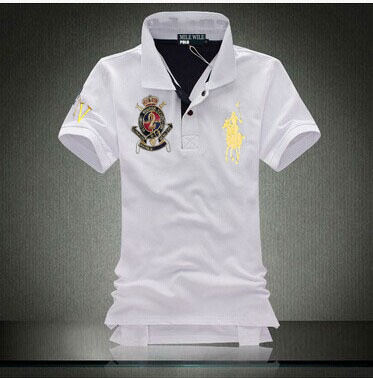 free shipping !2015 brand polo shirts for men100% cotton ! men short sleeve casual polo style sportswear for sport men shirt(China (Mainland))
