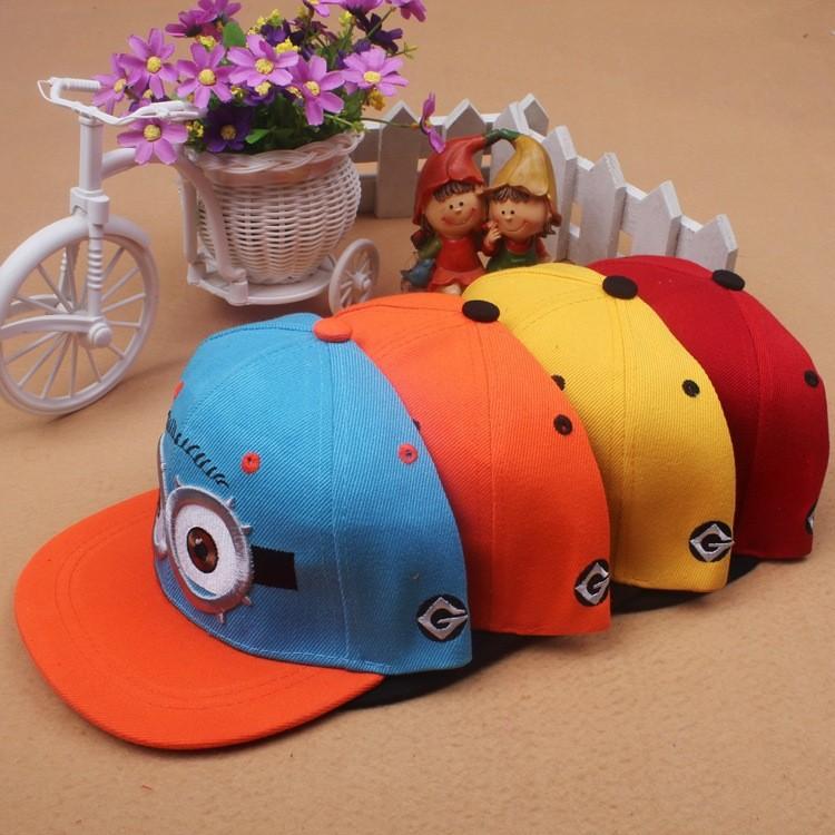 1 PCS Snapback Baseball Caps MLB Despicable Me Minions Golf Hats Cotton Adjustable Boys Girls Hip-Hop Punk Hot 2015 New Fashion(China (Mainland))