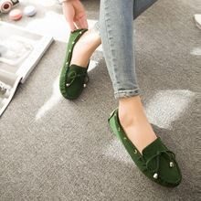 Women Flat Shoes 2015 Round Toe Loafer Flats Women Solid Casual Ladies Shoes Butterfly Knots Flat Women Loafers(China (Mainland))