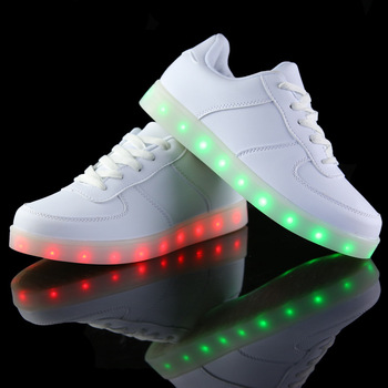 LED shoes luminous light up for adults women men casual Basket neon fashion simulation sole colorful charge glowing 2015