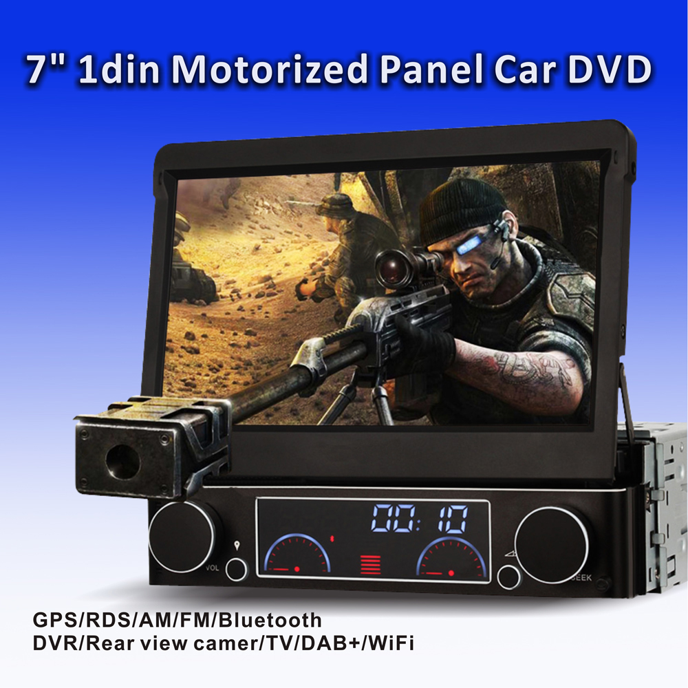 "7""1Din car radio stereo auto retracble panel Car DVD player with AM FM RDS GPS Bluetooth digital TV(optional) DK7091(China (Mainland))"