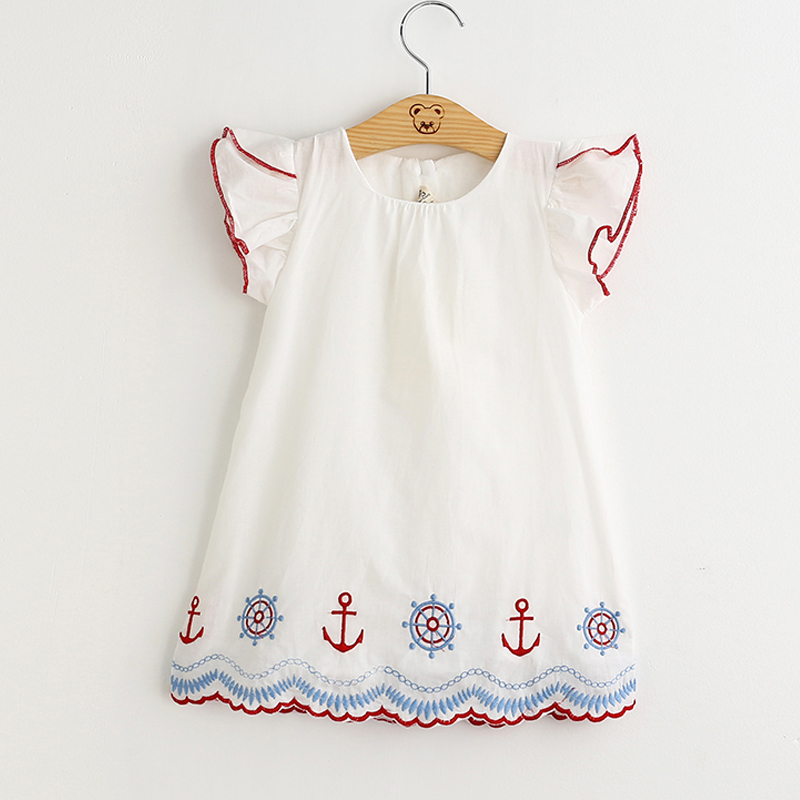 2016 New fashion summer style kids clothe princess dress for girl embroidery clothes kids dress(China (Mainland))