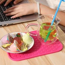 Buy Rose Non-Slip Heat Resistant Mats Cup Coaster Cushion Placemat Pot Holder Table Silicone Pad Kitchen Accessories 16x22cm RT for $2.15 in AliExpress store