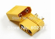 wholesale10pairs/lot XT90 Battery Connector Set 4.5mm Male Female gold plated banana plug Suit For 90-120A current f toy hobbies