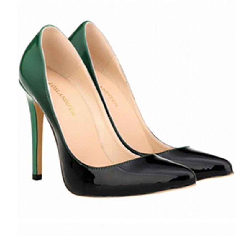 ซื้อ 2016แบหนังสิทธิบัตรรองเท้าส้นสูงปั๊มผู้หญิงเท้าชี้รองเท้ากริชผู้หญิงเซ็กซี่ผู้หญิงบวกขนาด35- 42