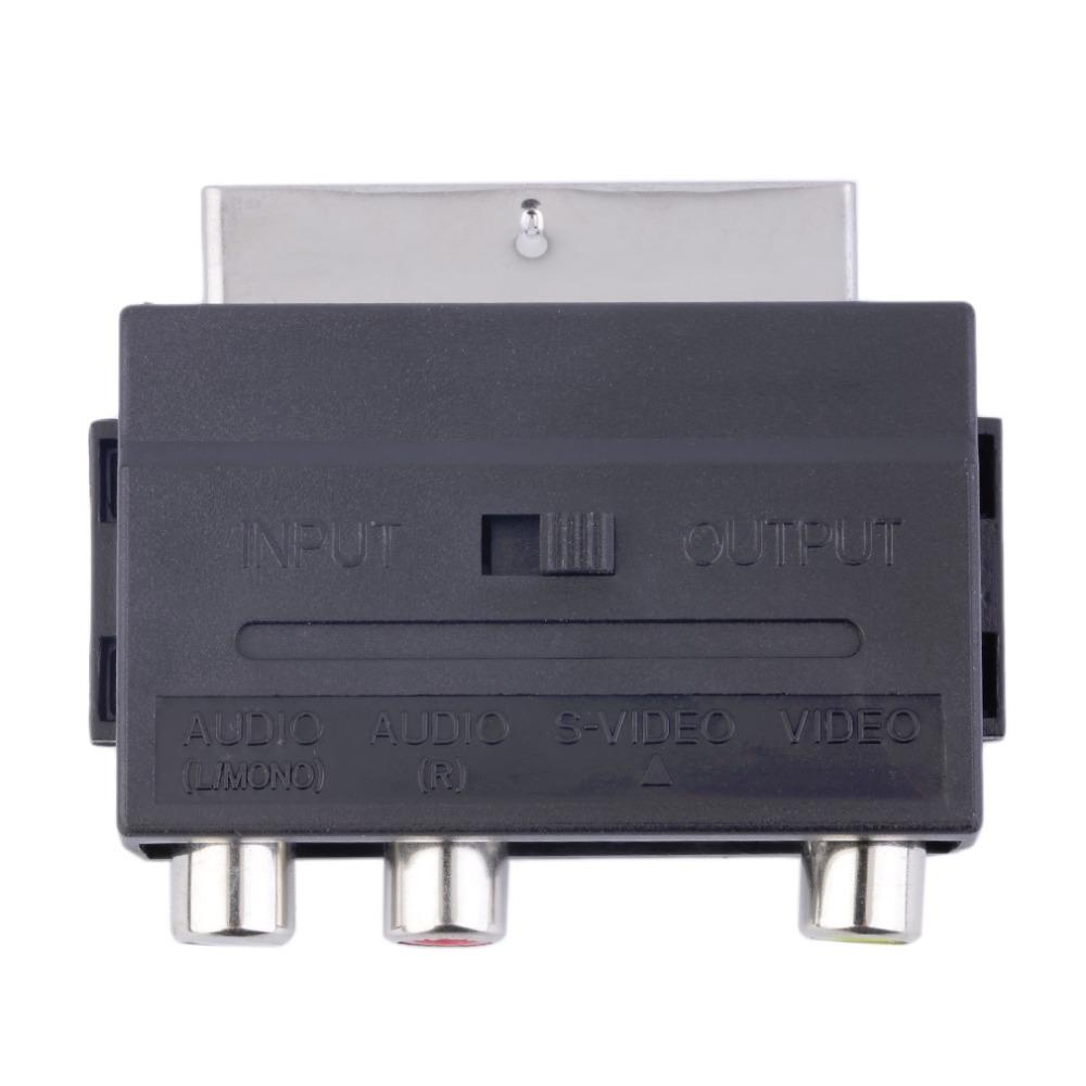 Scart до 3 RCA , композитный фоногнездо с SVHS - видео адаптер в / из переключатель
