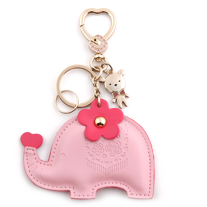 Milesi brand New 2015 keychain original design Bag Pendant elephant key chain innovative Items gift Novelty souvenir Trinket(China (Mainland))