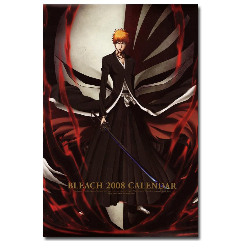 Bleach kurosaki ichigo hollow mask art silk stampa poster 13x20 24x36 pollici font b japan b