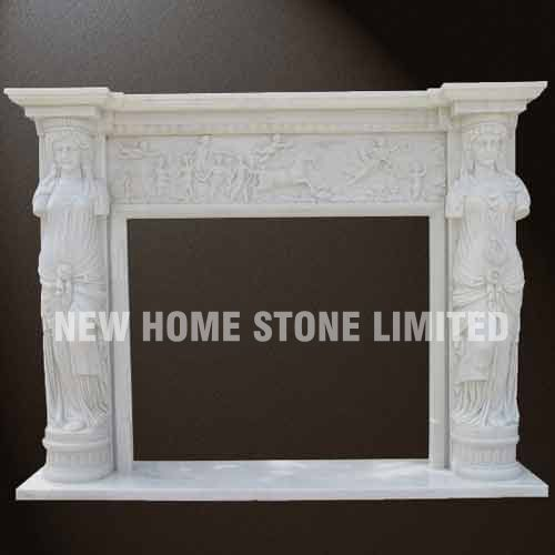 White marble fireplace surround for sale for Marble mantels for sale