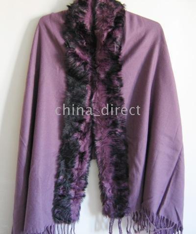 shawls poncho 10pcs/lot Womens Fur pashmina Cashmere scarf shawl cape wraps