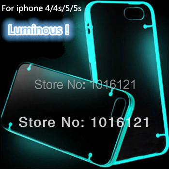 Case iphone 4s 4 5s 5 fashion luminous shell neon ultra-thin transparent new cases, accessories covers bulk - Superarrow International (Shenzhen store Limited's)