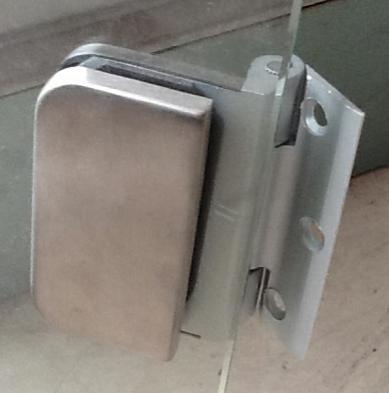 Door Hinge for glass to wooden frame, aluminium hinge(China (Mainland))
