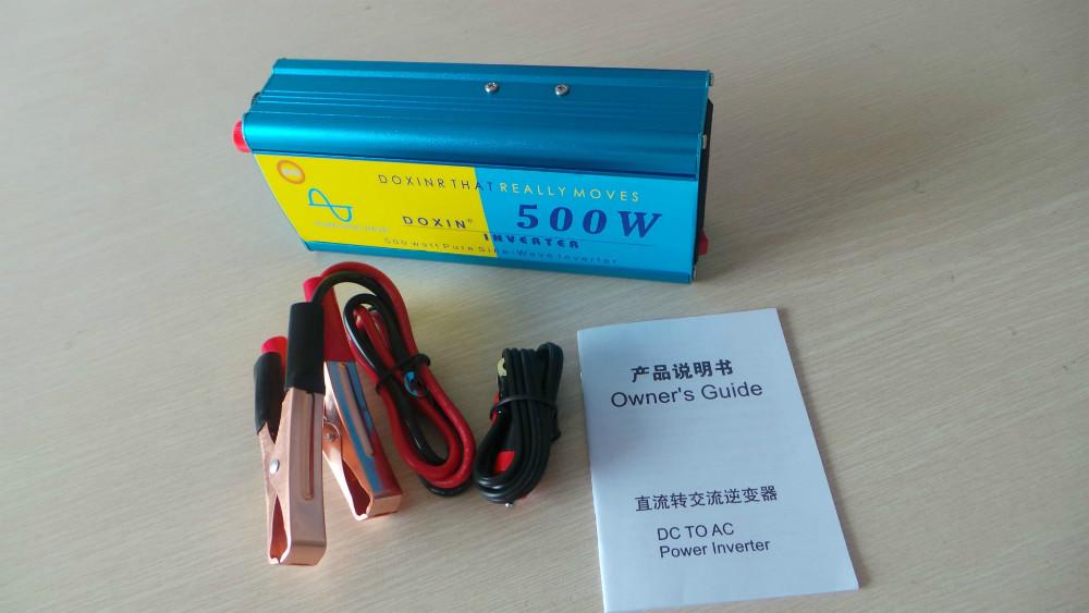 500w Dc To Ac 12v 220v Car Pure Sine Wave Power Inverter(China (Mainland))