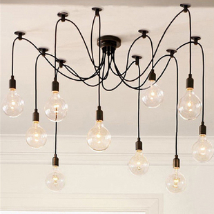 Luxury Vintage Antique Pendant Lamp light 10 bulbs series 1 Europe Style For Loft Bar Coffee Restaurant Parlour E27(China (Mainland))