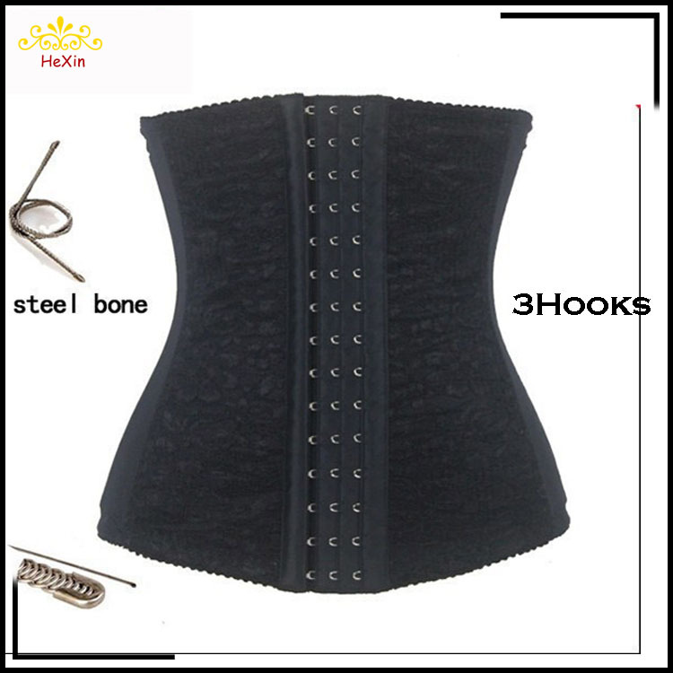 2016 New Corset Lacing Chest Binder Underbust Women Bustier Tops Black Corselet S~6XL Plus Size Waist Training Corsets - FeelinGirl Top1 Store store