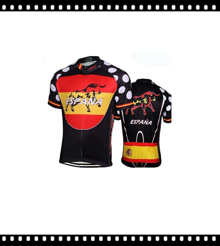 Best Selling Nice 2016 Lowest Price Ropa Ciclismo Breathable Spain Cycling jersey Maillot Cycling Wear Bike Apparel Italy Ink(China (Mainland))