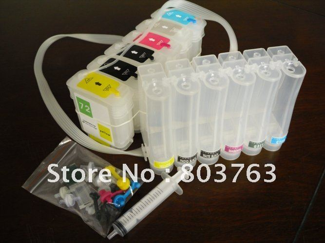 CISS for HP72 HP T1100 T610 CISS Continuous Ink Supply Systems for HP T610 T1100 series Printer free shipping by HK Post(China (Mainland))