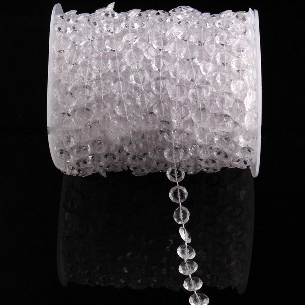 10mm Iridescent Glass Crystal beads curtain Window/Door/Kitchen hanging curtain wedding backdrop free shipping(China (Mainland))