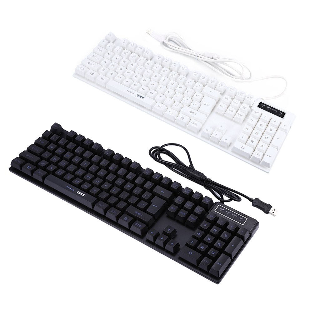 New Arrival Wired USB Three Colors Back light Mechanical Gaming Keyboard with 103 Keys Full Size Shortcut Keys(China (Mainland))