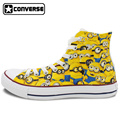 Canvas Sneakers Men Women Converse All Star High Top Hand Painted Shoes Minions Despicable Me Christmas
