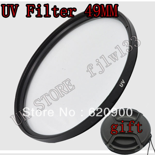 100% GUARANTEE 49MM UV Filter Kit + gift lens cap for NIKOND7000 D5100 D5000 D3200 D3100 D80 D90 D300S
