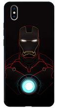 El hombre de hierro de vidrio para iphone 11 pro max xr x xs x max 8 plus 7 7plus 8 plus 6, 6s de marvel hero a prueba de golpes contraportada(China)