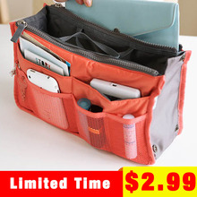 Factory Direct 10 Color Organizer Bag Women Make up Travel Bags Cosmetic  Storage Bags Multi Purpose Toiletry Bag Handbag