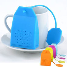 New Bag Style Silicone Tea Strainer Herbal Spice Infuser Filter Diffuser Kitchen Free Shipping