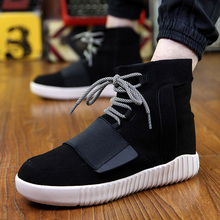New Men High Tops Casual Shoes Fashion Comfortable Breathable Lace Up Flats Cotton Winter Warm Fashion Shoes Mens(China (Mainland))