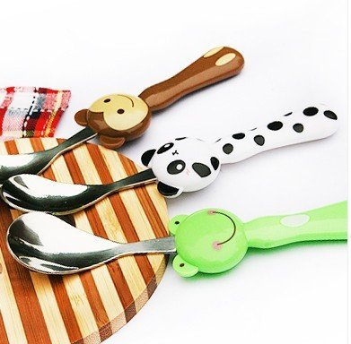 Cartoon  Top Handle Stainless Steel Children Soup Spoon