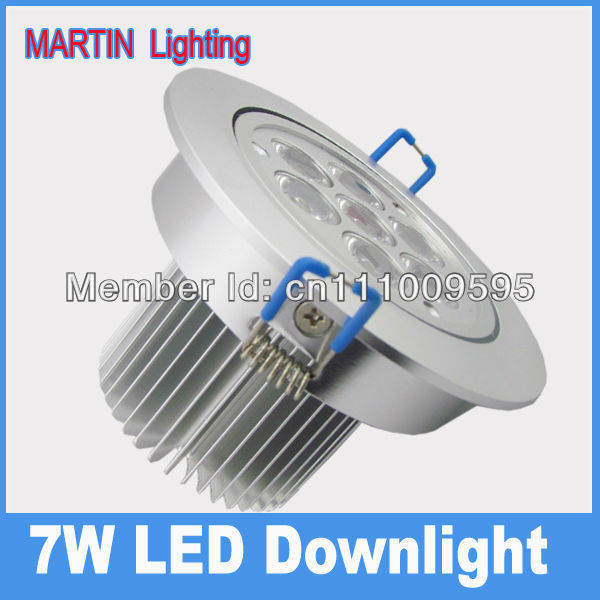 ultra bright 7w led spot downlights 750lm high power energy saving ceiling lamp AC85-265v