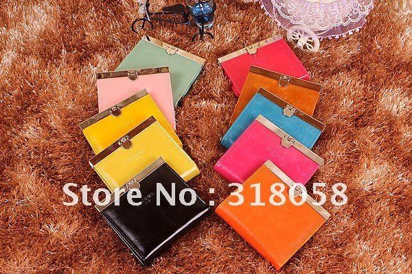 2012 new color wallet candy color lovers brief paragraph small wallet card bag female bag,10pcs/lot