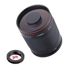 Buy 500mm f/8.0 Camera Telephoto Manual Mirror Lens + T2 Mount Adapter Ring Nikon D3200 D3300 D5200 D5500 D7000 D7200 D800 DSLR for $97.58 in AliExpress store