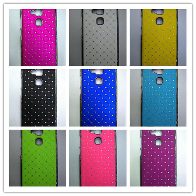 Electroplate Diamond chrome Bling Hard Shining Rhinestone Babysbreath Case For Huawei Ascend Mate7 Coque Fundas cover phone case(China (Mainland))