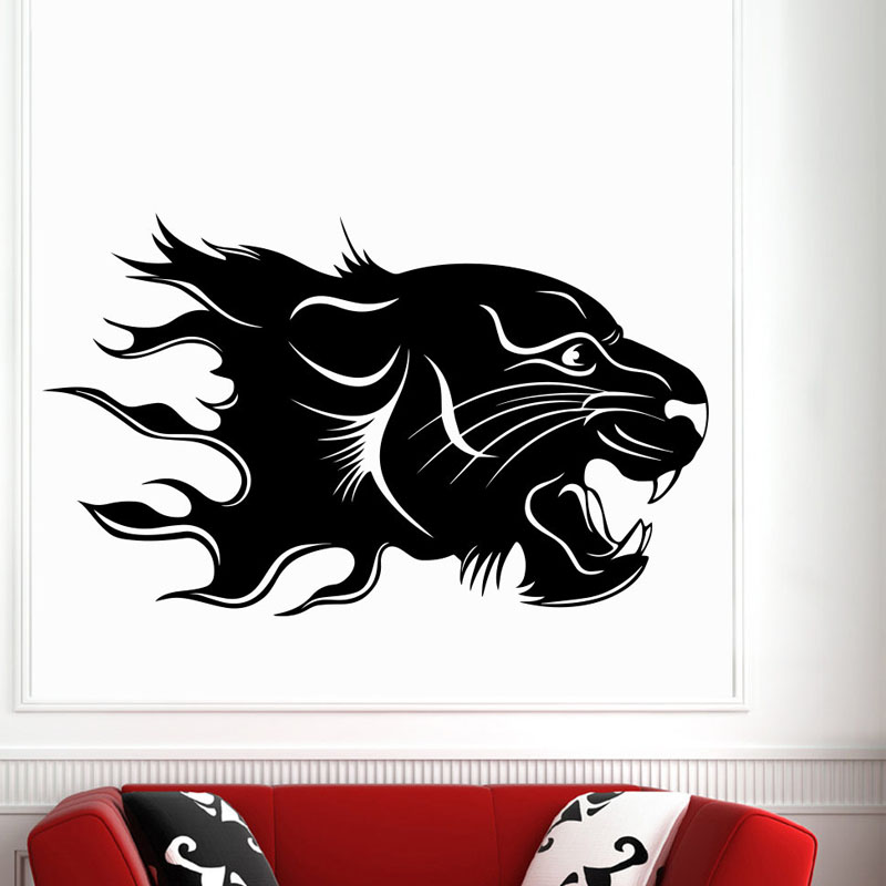 Leopards Wall Decals Safari Animal Living Room Decorative Self Adhesive Vinyl Art Wall Stickers Home Decor Sticker(China (Mainland))