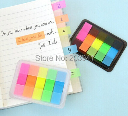 New Cute Fluorescent color DIY Multifunction Notepad set/ sticker marker set/ MINI notebook/memo/wholesale(China (Mainland))