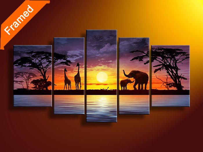 Beautiful natural world canvas painting nice mluti panels canvas art for bedroom wall decoration reproduction oil painting(China (Mainland))