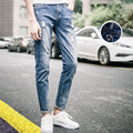 2016 Denim Pants Men s Jeans Spring and summer hole Jeans Male Straight Washed Men s